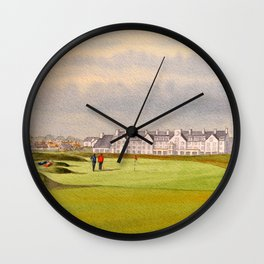 Carnoustie Golf Course Scotland With Clubhouse Wall Clock