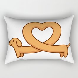 Heart shaped dachshund dog Rectangular Pillow