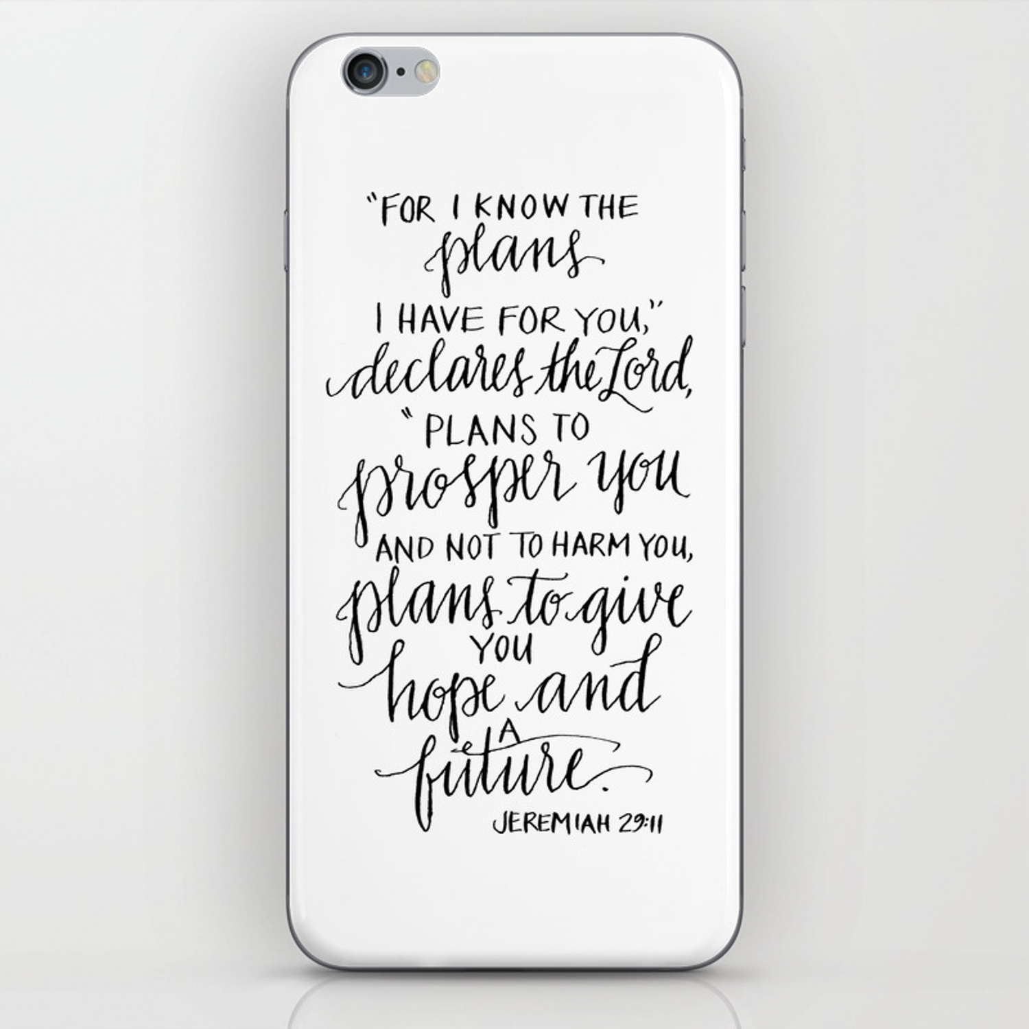 I Know The Plans Jeremiah 29 11 Iphone Skin By Daughterzion Society6