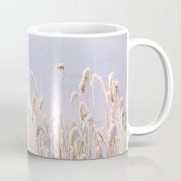 Snowy Reeds in Sunny Day Winter Scene #decor #society6 #buyart Coffee Mug