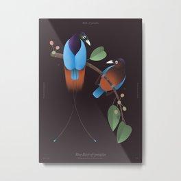 Blue Bird-of-paradise (dark version) Metal Print