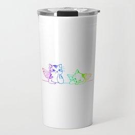 Cat Angels kittys gift Travel Mug