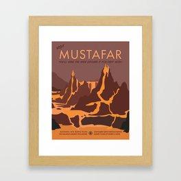 Visit Mustafar Framed Art Print