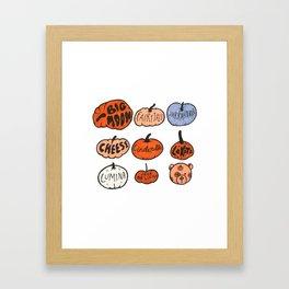 Types of Pumpkins Framed Art Print