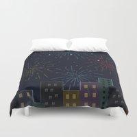 night sky Duvet Covers featuring Night Sky by Suchita Isaac