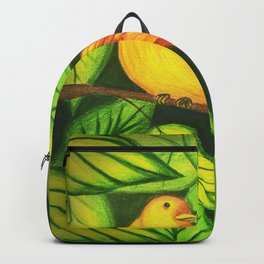Colorful Tropical Bird Backpack