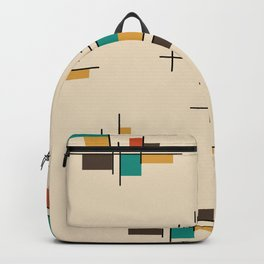 Mid Century Modern Geometric Colorful Backpack