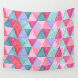 pastel triangle pattern Wall Tapestry
