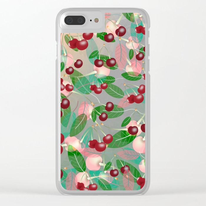 Cherry Song Clear iPhone Case