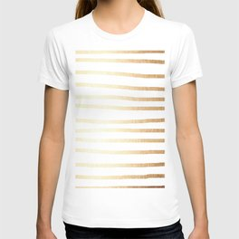 Simply Drawn Stripes Golden Copper Sun T-shirt