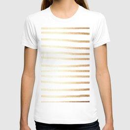 Simply Drawn Stripes Golden Copper Sun T-shirt