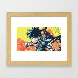 Izuku Midoriya v1 Framed Art Print