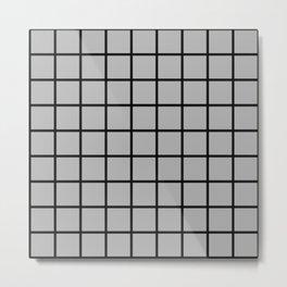 grey square Metal Print