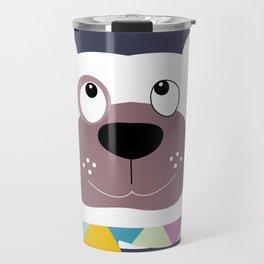 Dog with scarf Travel Mug