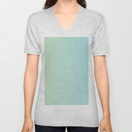 Turquoise Green Blue Gradient Unisex V-Neck