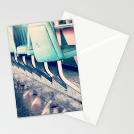 Retro Diner Photograph, kitchen art, restaurant decor, shabby chic, vintage, pastels, mint and pink Stationery Cards
