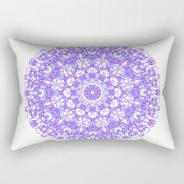 Mandala 12 / 1 eden spirit purple lilac white Rectangular Pillow