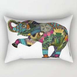 asian elephant white Rectangular Pillow