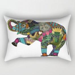 asian elephant white Rectangular Pillow