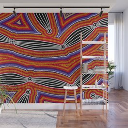 Authentic Aboriginal Art - Neurum Creek Bush Tracks Wall Mural