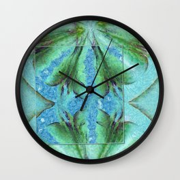 Deforestation Rainbow Flowers  ID:16165-130926-19511 Wall Clock