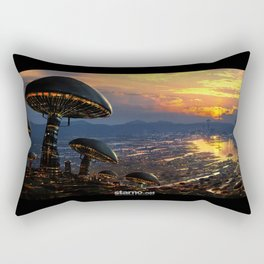 Mushroom City Rectangular Pillow