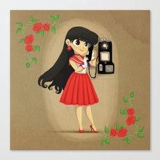 Retro Sailor Mars Canvas Print
