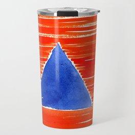 orange desert Travel Mug