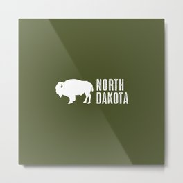 Bison: North Dakota Metal Print