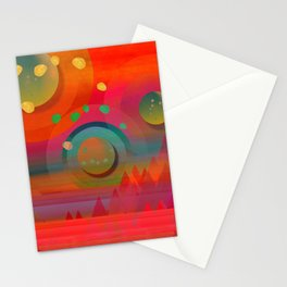 """Sci-fi Pop Landscape"" Stationery Cards"