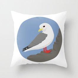 Red-legged Kittiwake Throw Pillow