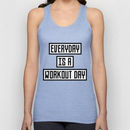 Workout Day fitness T-Shirt for all Ages Dx41w Unisex Tank Top