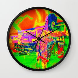 """r e t r o n o t e"" the blackxnote Wall Clock"