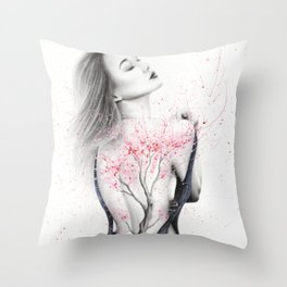 Her Blossom Throw Pillow