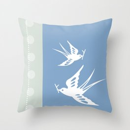 Your indies swallows Throw Pillow