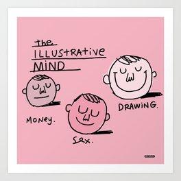 The Illustrative Mind / I Drew This Thing Art Print