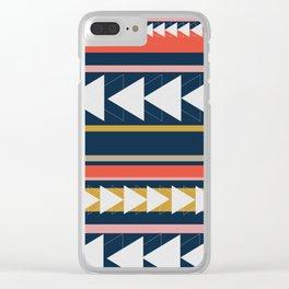 Geometric Triangle Art Clear iPhone Case