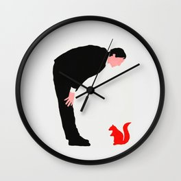 The story about me and the squirrel Wall Clock