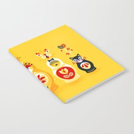 Russian Nesting Dolls – Yellow & Red Notebook