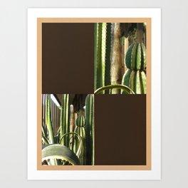 Cactus Garden Blank Q3F0 Art Print