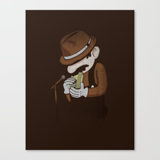 8-bit Blues Canvas Print