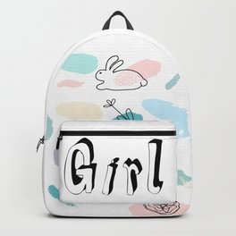 Girl baby confetti Backpack