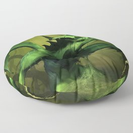 Very Fearsome Green Powerful Giant Angry Dragon Ultra HD Floor Pillow