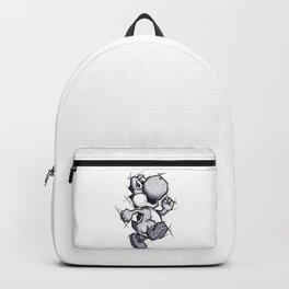 Yoshi Handmade Drawing, Games Art, Super Mario, Nintendo Art Backpack