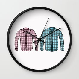 Flannel shirts Wall Clock