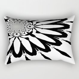 The Modern Flower White & Black Rectangular Pillow