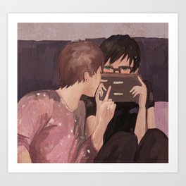 DAN AND PHIL GAMES Art Print