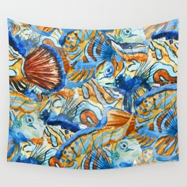 Fish Pattern 06 Wall Tapestry