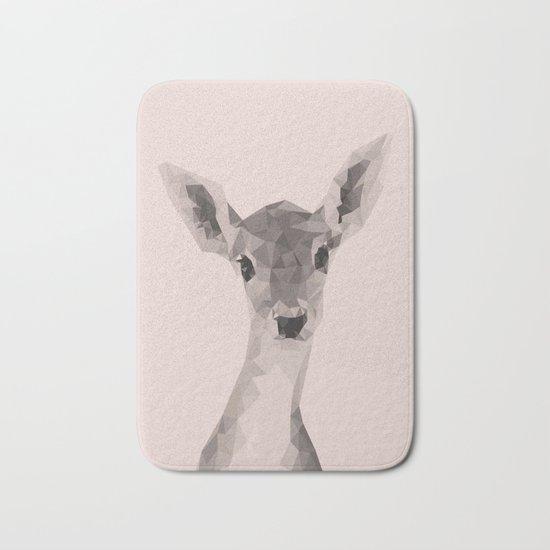 Little deer in pink Bath Mat