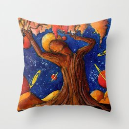 Daphne at the edge of the desert Throw Pillow